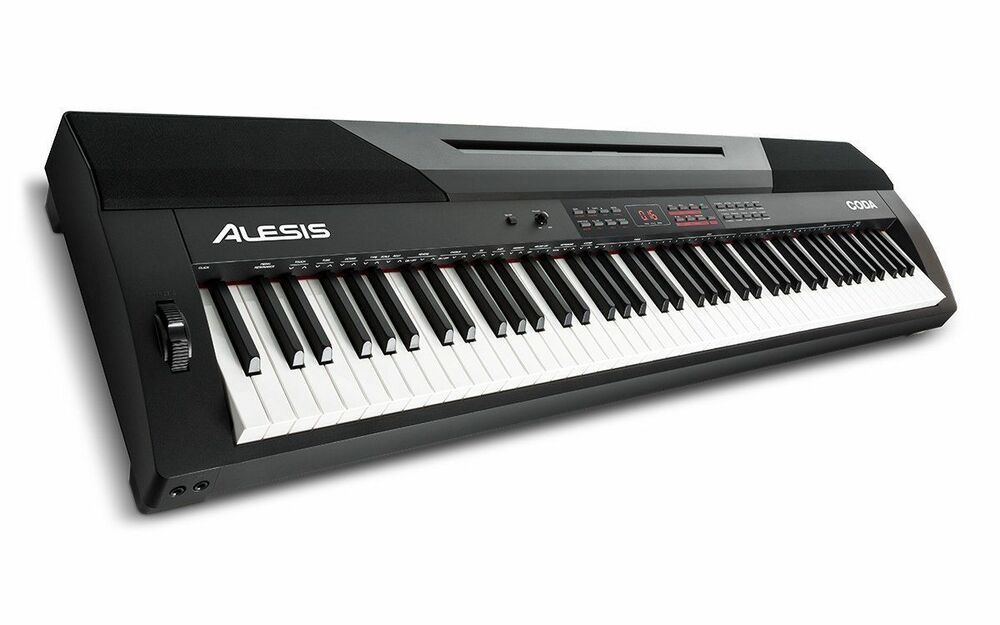 alesis coda full featured 88 key digital piano full size profesional keyboard ebay. Black Bedroom Furniture Sets. Home Design Ideas
