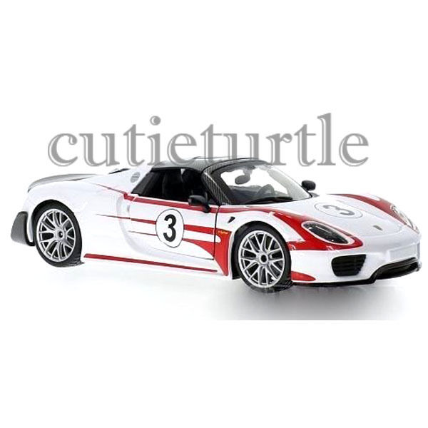bburago porsche 918 spyder weissach 3 1 24 diecast model car 28009 white ebay. Black Bedroom Furniture Sets. Home Design Ideas