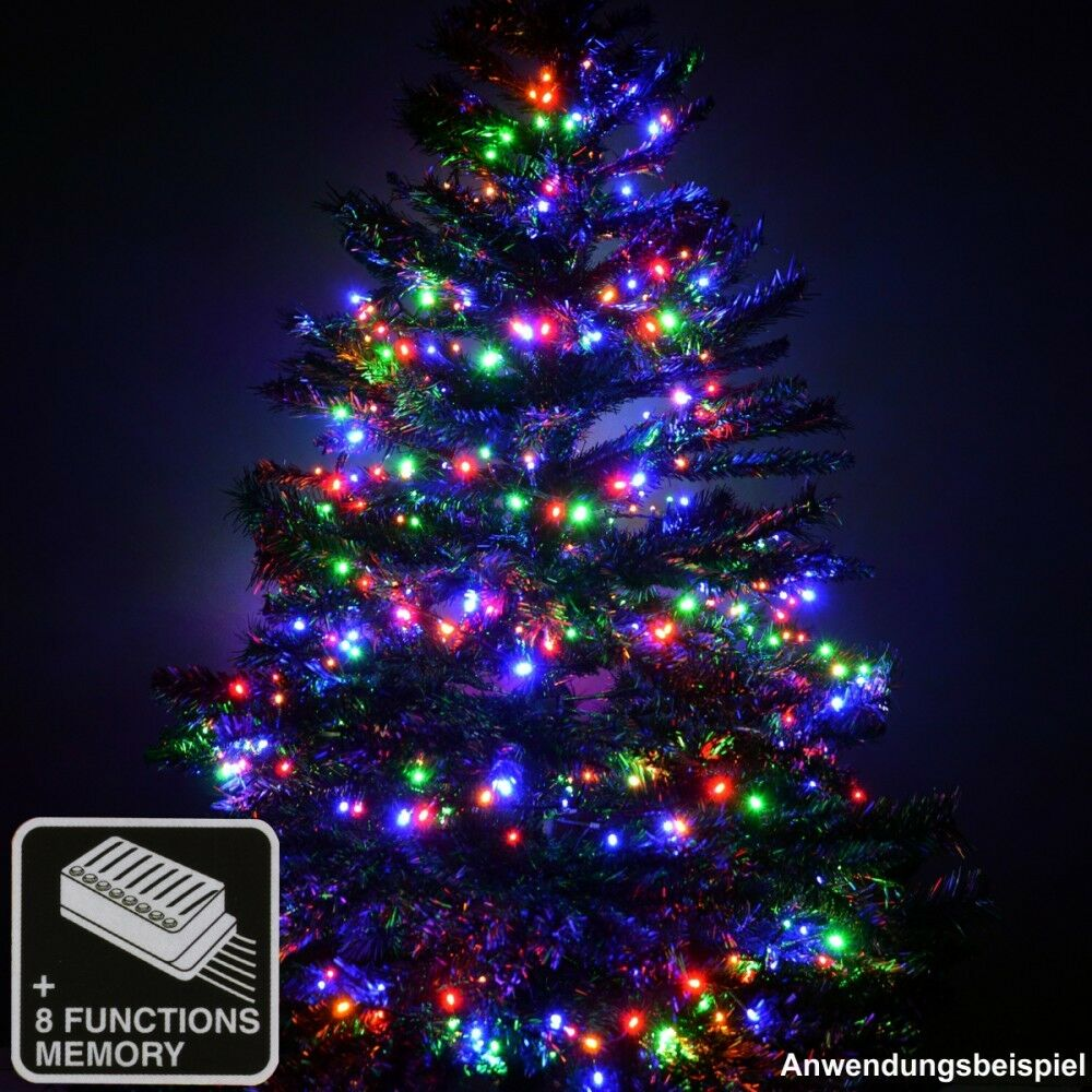 led cluster lichterkette 400 1200led bunt weihnachtsbaum 1 5 3m 8funktionen ebay. Black Bedroom Furniture Sets. Home Design Ideas