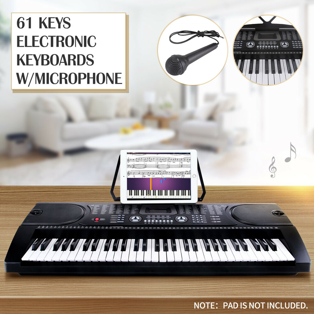 61 key music electronic keyboard electric digital piano organ with microphone ebay. Black Bedroom Furniture Sets. Home Design Ideas