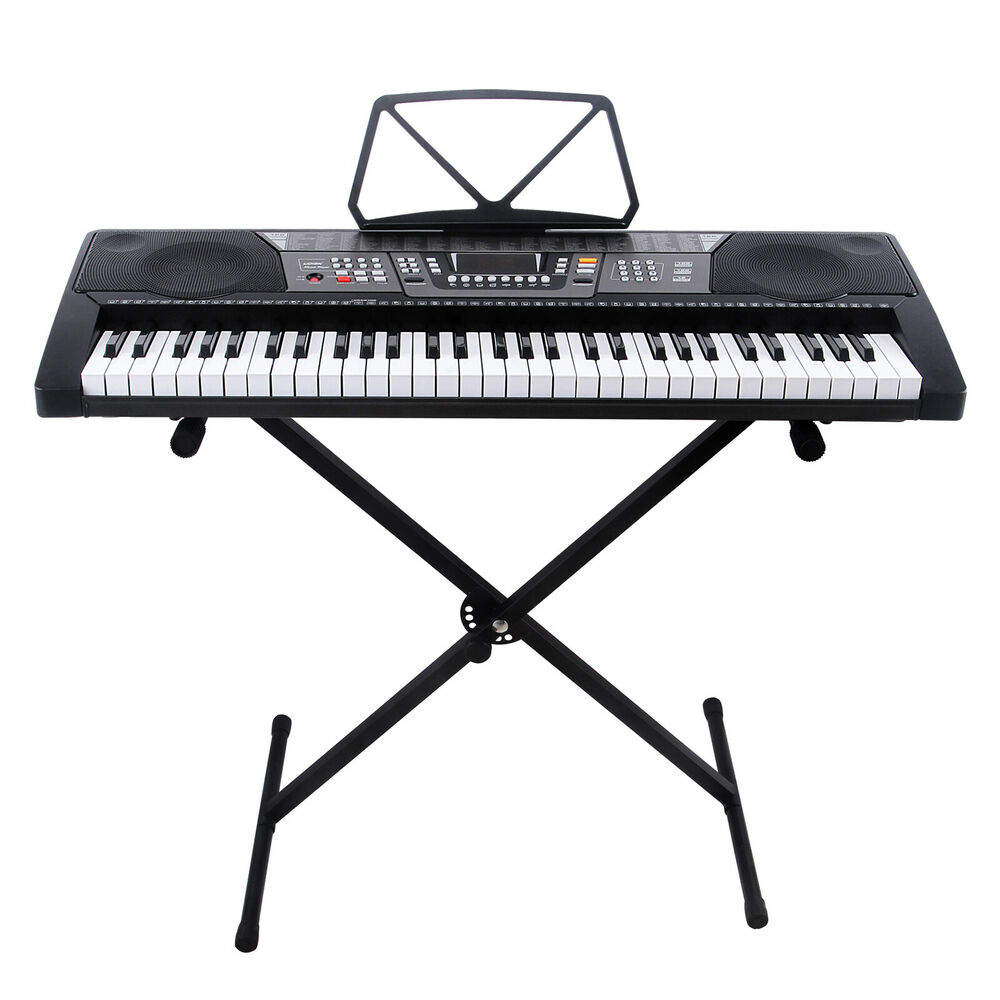 61 key music electronic keyboard electric digital piano organ with stand 709202325286 ebay. Black Bedroom Furniture Sets. Home Design Ideas