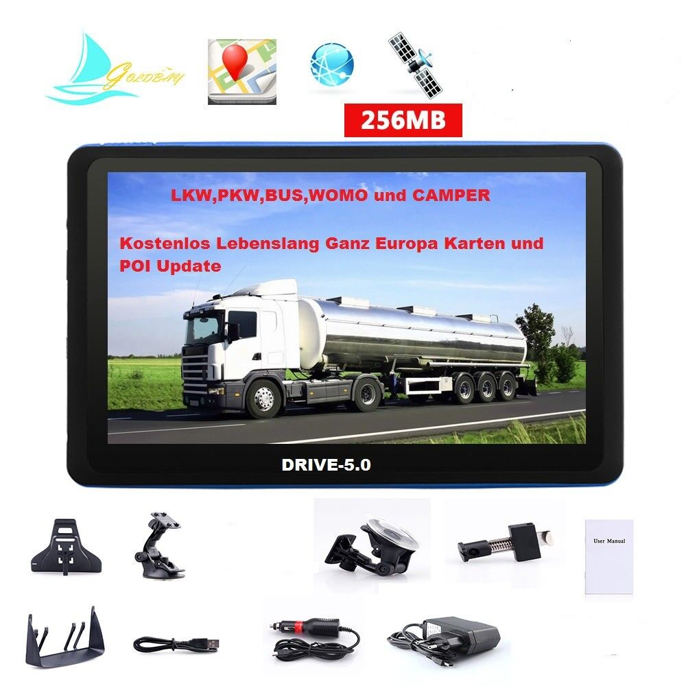 5 gps navigation navi drive 5 0 f r pkw lkw truck bus. Black Bedroom Furniture Sets. Home Design Ideas