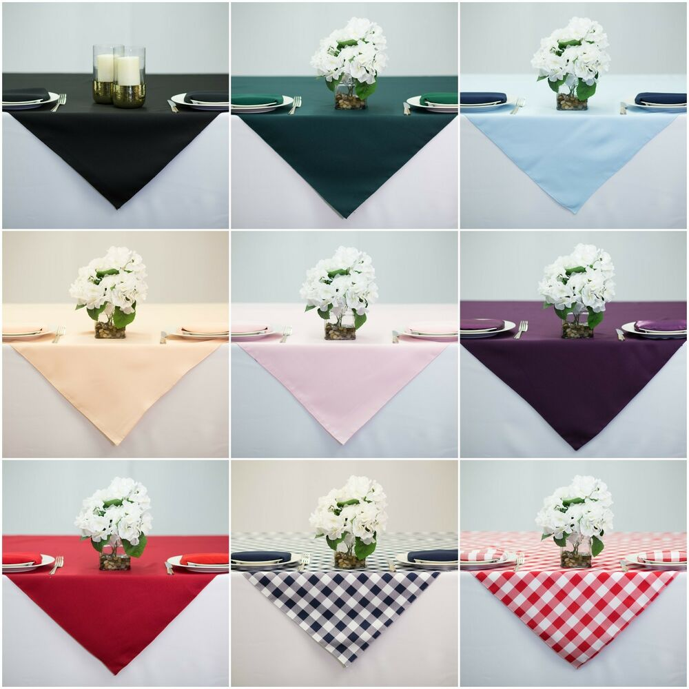 60x60 Inch Square Overlay Tablecloth 100 High Quality