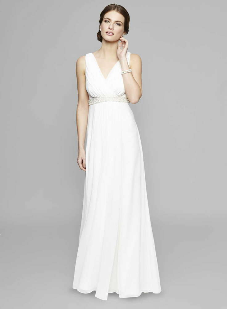 BNWT BHS Ivory Harriet Embroidered Wedding Dress UK SIZE 8 16 RRP GBP110