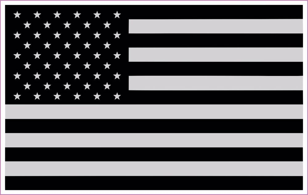 Truck Stickers For Back Window >> Police Military American Flag Black & White BLACK OUT ...
