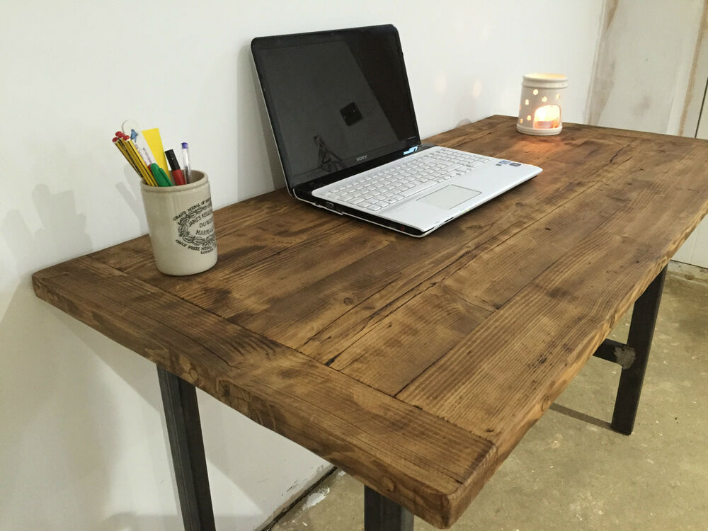 pc table computer desk writing desk reclaimed wood. Black Bedroom Furniture Sets. Home Design Ideas