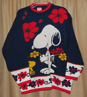 VINTAGE Peanuts SNOOPY & Friends WOODSTOCK Ugly Tacky CHRISTMAS Sweater LARGE