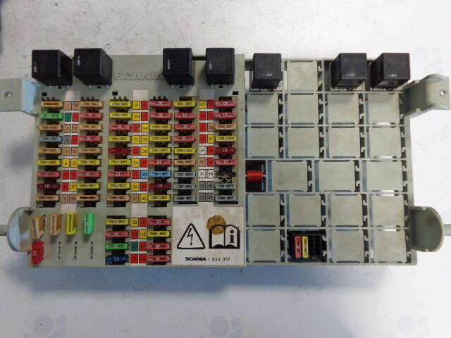s l1000 scania central electric unit fuse relay protection box 1854358 ebay scania r series fuse box layout at bayanpartner.co