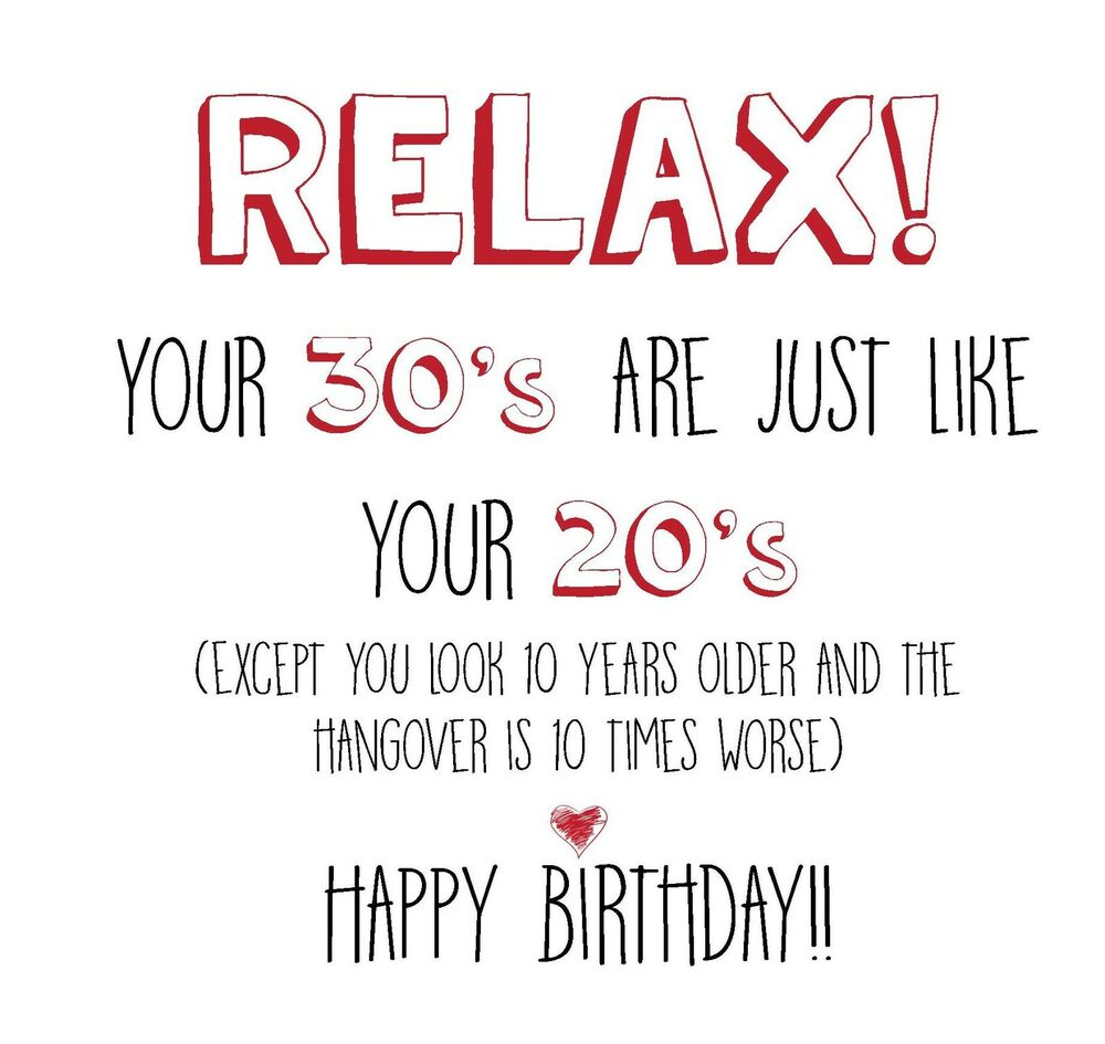 Details About Funny Rude Alternative Sarcastic BIRTHDAY Card 30th Birthday Friend Anyone