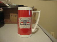 Vintage BUDWEISER Beer mug thermos cup glass