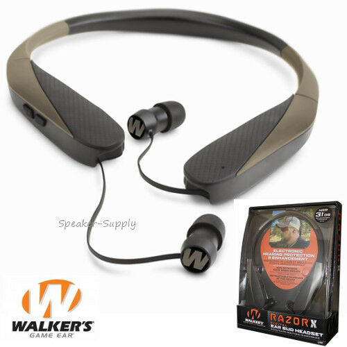 walkers game ear earbuds headset razor x neck hearing protection enhancement ebay. Black Bedroom Furniture Sets. Home Design Ideas