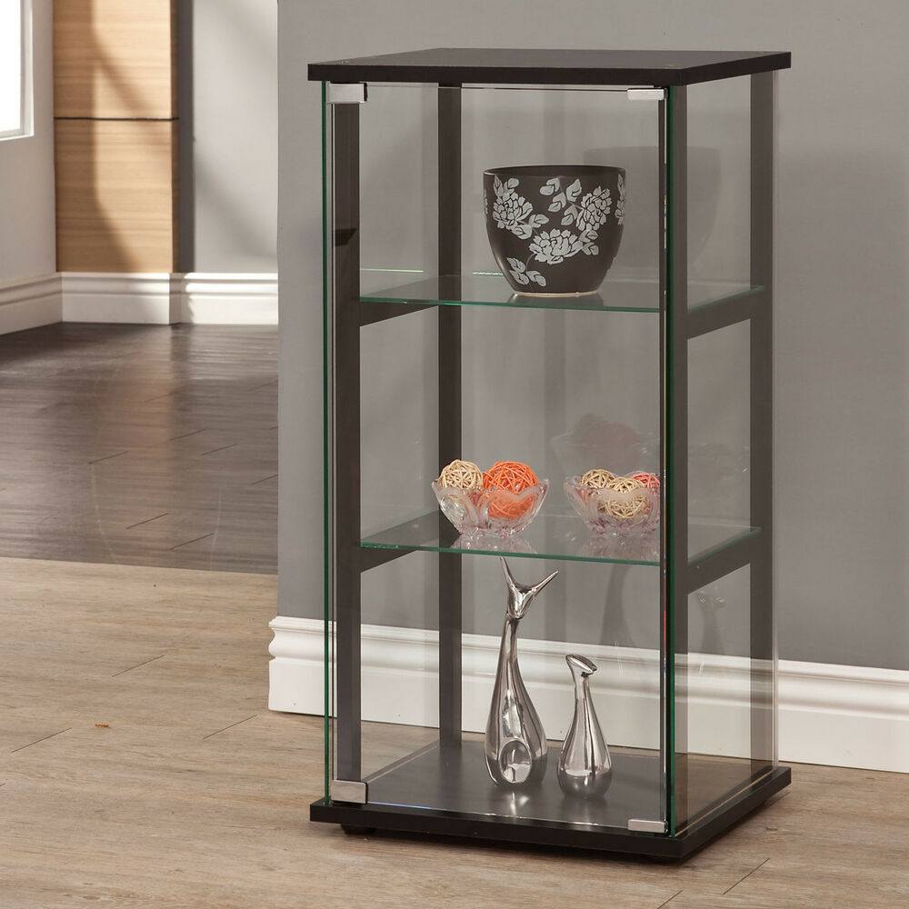 Living Room Cabinets With Glass Doors Glass Display Cabinet Ebay