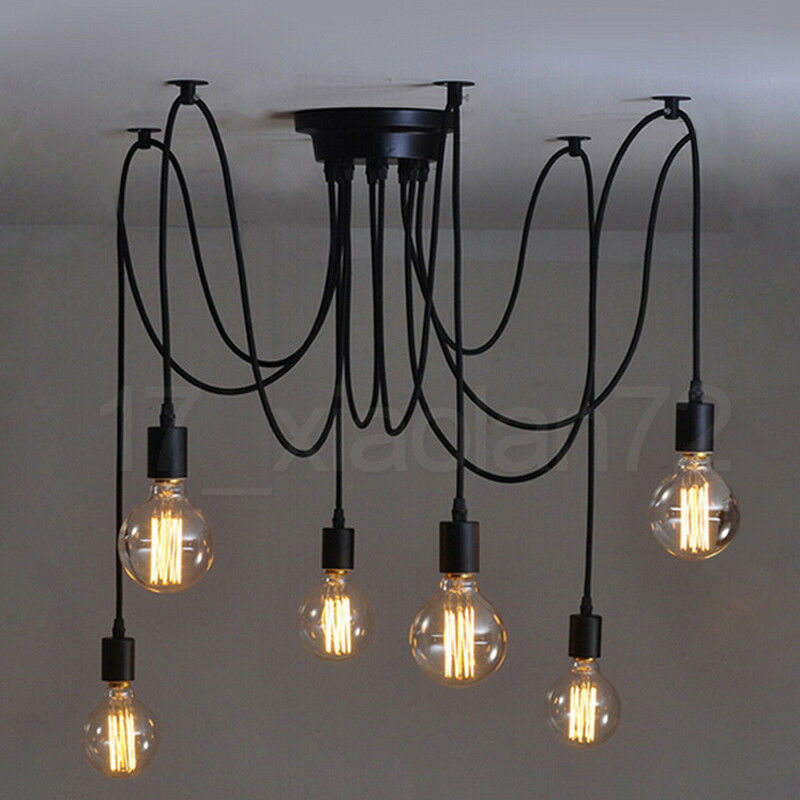 heads industrial loft vintage retro ceiling light chandeliers