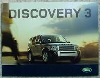 LAND ROVER DISCOVERY 3 Sales Brochure 2007 MODEL YEAR #2332/06 TDV6 & V8 PETROL