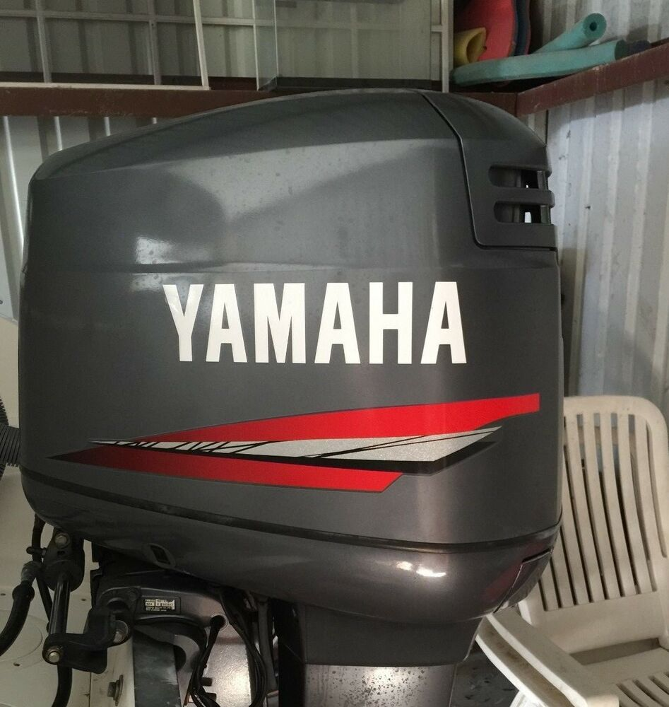 Yamaha 150 hp 2 stroke outboard marine vinyl decals for Yamaha boat decals graphics