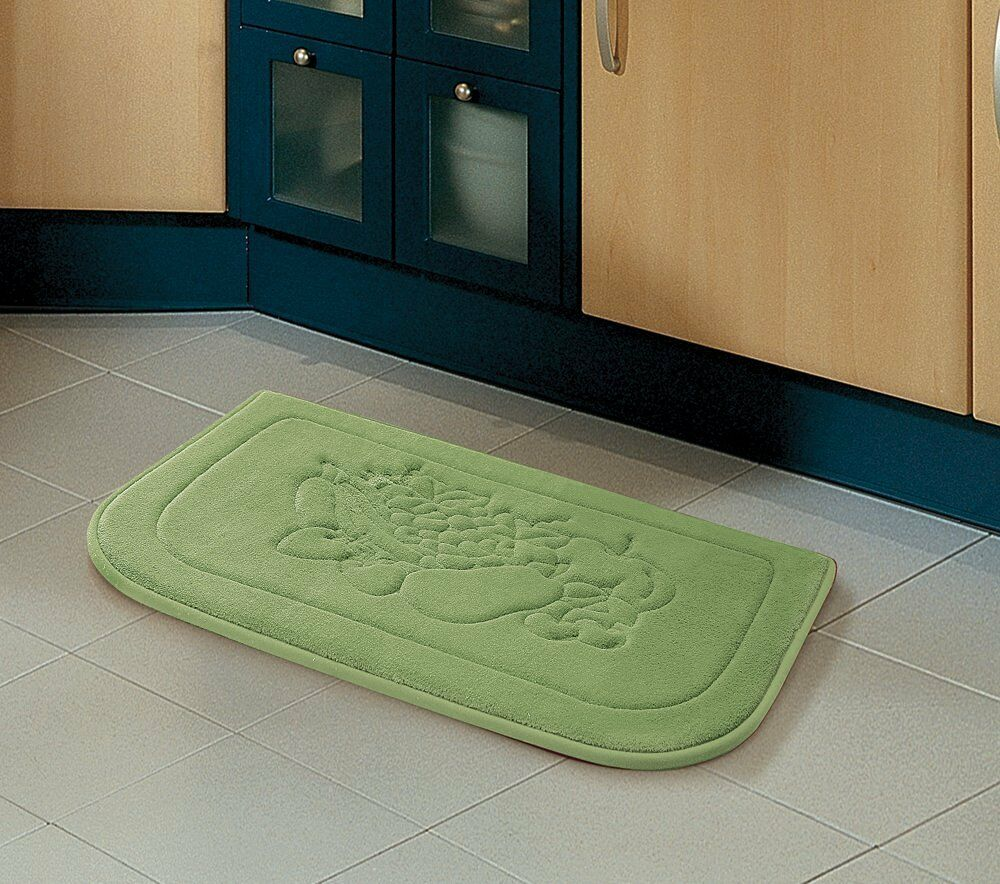 Sage Green Fruit Memory Foam Anti Fatigue Kitchen Floor