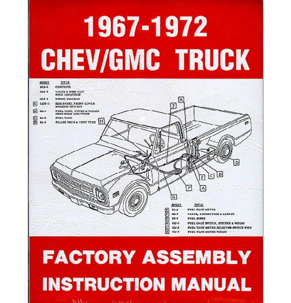 1967-72 Chevy Truck Factory Assembly Manual