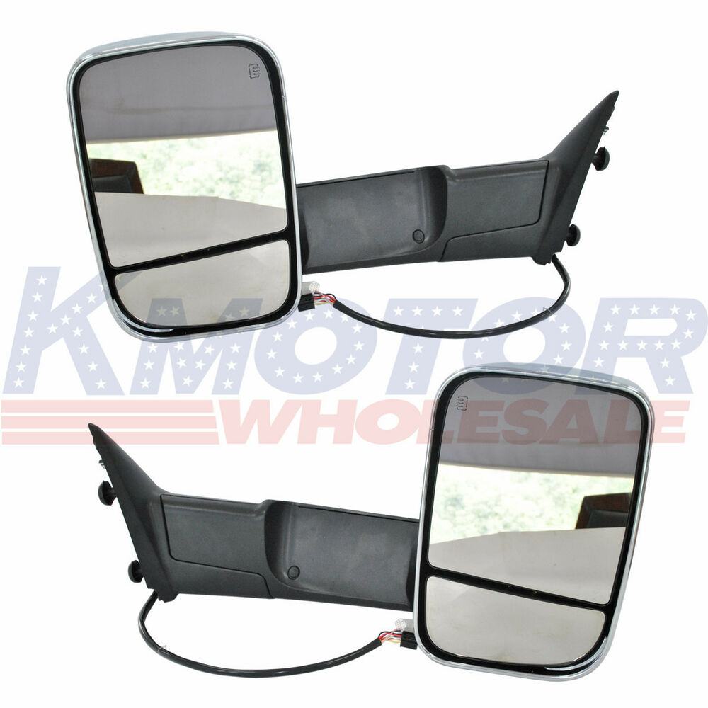 Pair Power Heated Towing Mirrors For Ram 1500 Pickup