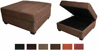 Storage Bench And Ottoman Microfiber Suede Or Faux Leather