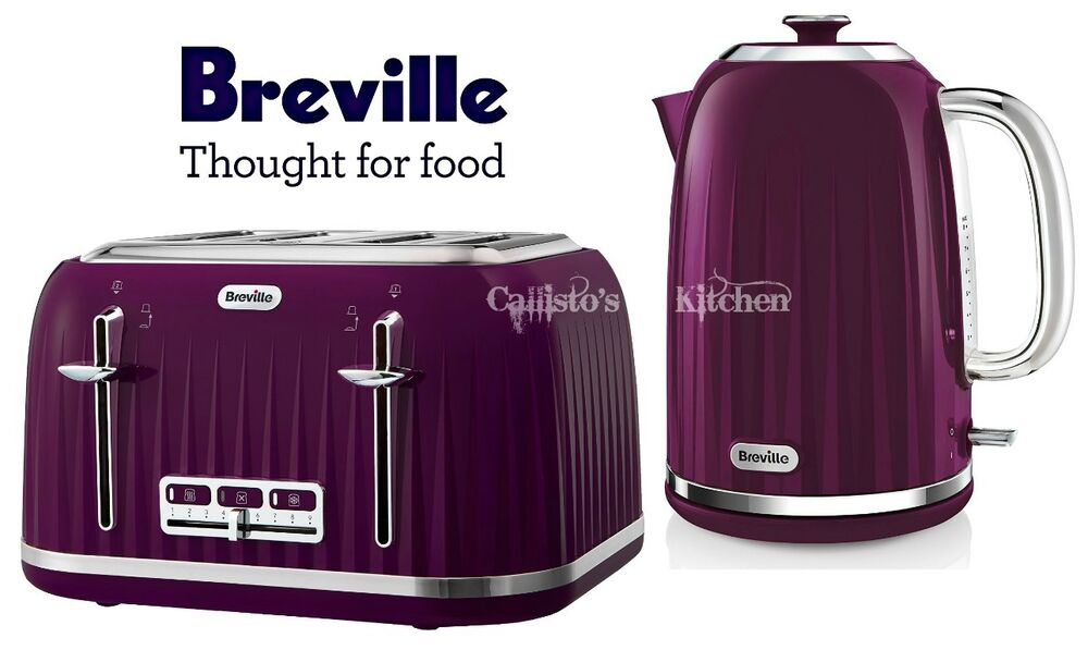 Breville Impressions Kettle And Toaster Set Purple Kettle