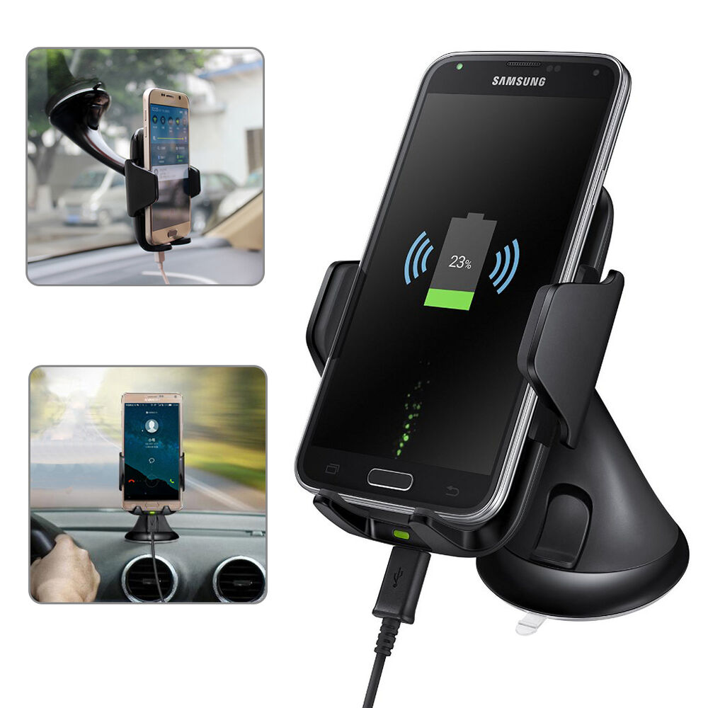 Qi wireless car charger charging dock pad holder mount for samsung s6 s7 iphone ebay - Notepad holder for car ...
