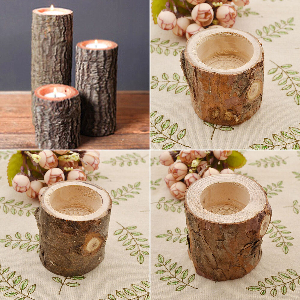 Rustic Wooden Tea Light Holder Free Shipping: Tree Branch Wooden Candle Holder Vintage Wood Tea Light