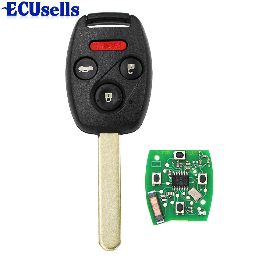 remote key fob 4 buttons 313 8mhz id46 chip for honda. Black Bedroom Furniture Sets. Home Design Ideas