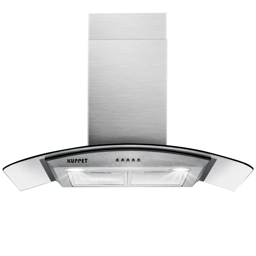 "30"" Stainless Steel Wall Mount Range Hood Stove Vent Fan W"
