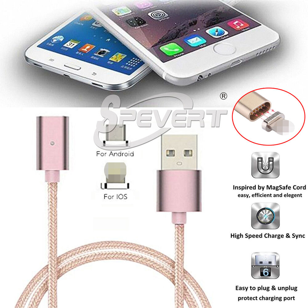 magn tique adaptateur fast chargeur micro usb c ble data pour iphone huawei ebay. Black Bedroom Furniture Sets. Home Design Ideas