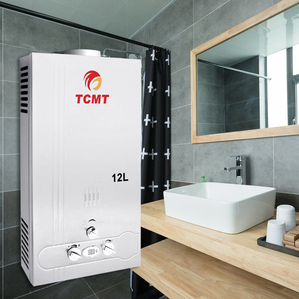 12l natural gas tankless hot water heater 3 2gpm instant for 1 bathroom tankless water heater