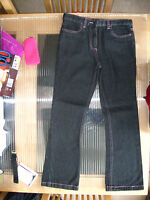 NEW GIRLS CLOTHES BLACK DENIM JEANS WOOLWORTHS 140 CMS AGE 9 - 10 YEARS BNWT