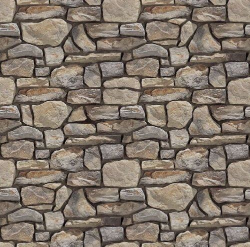 Paper Stone Walls : New scale mm self adhesive stone wall