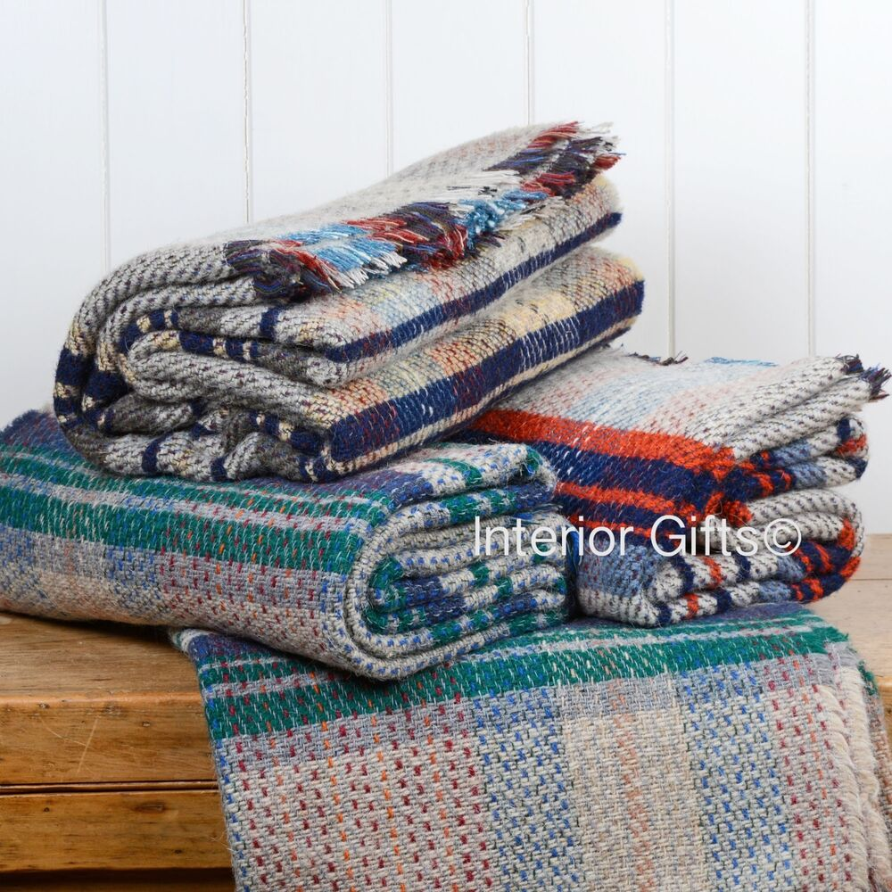 Tweedmill *LARGE* Random Recycled 100% WOOL THROW TRAVEL