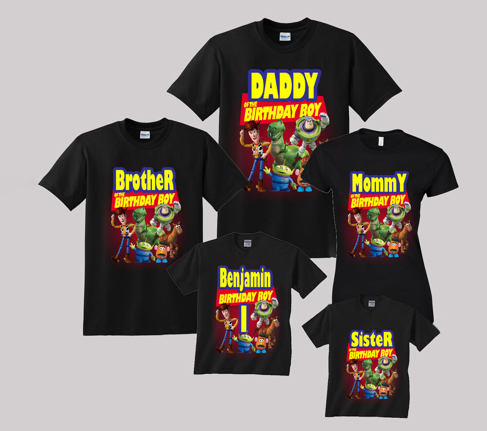 Details About Toy Story Birthday Shirt Personalized Custom T Family Black Shirts
