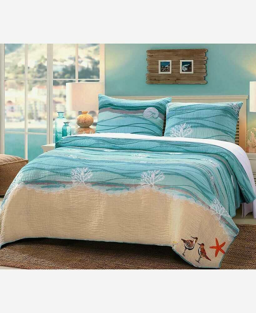 sea turtle bedding coastal sea shell fish turtle coral comforter 2136