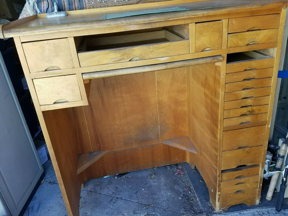 Jewelers watchmakers wooden work bench watch jewelry making workbench repair ebay Watchmakers bench