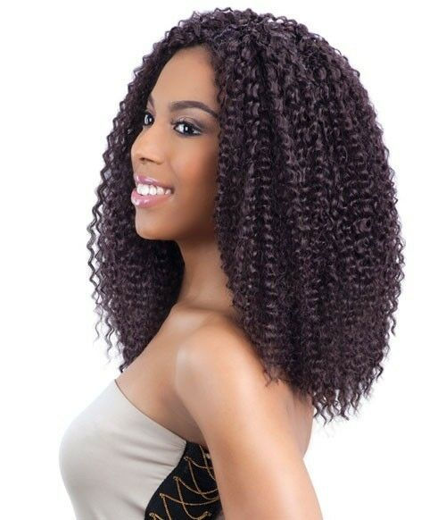 Model Model Hair Crochet Braids Glance Brazilian Curl 12