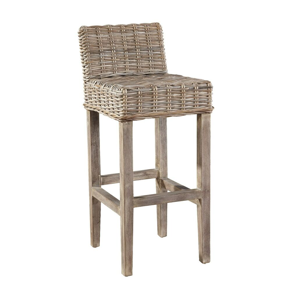 Baxter Bar Stool Woven Rattan Barstool Set Of 2 Ebay