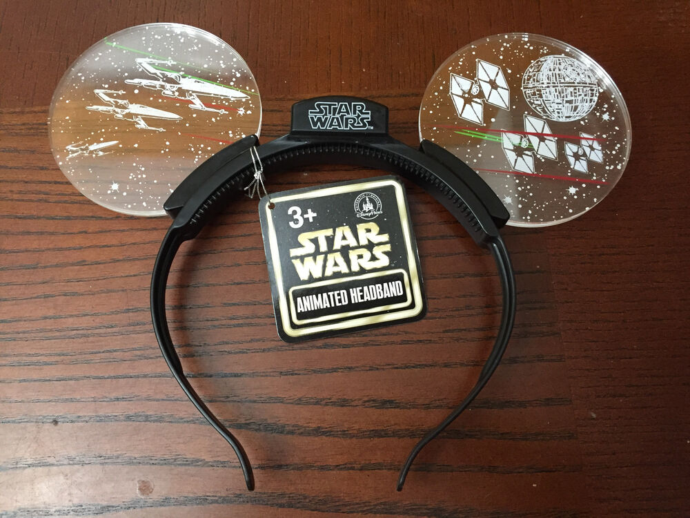 Disney Star Wars Light Up Headband Mickey Ears New