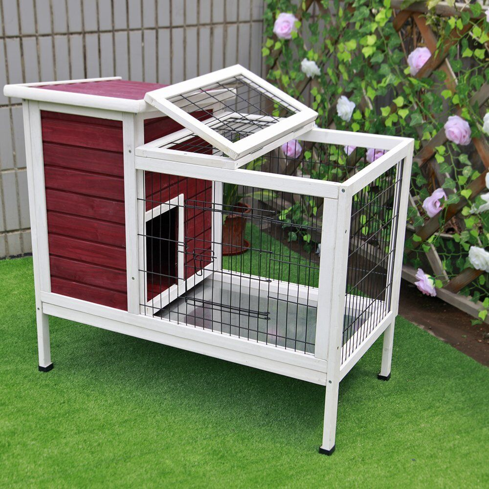 rabbit hutch indoor bunny cage habitat small animal guinea. Black Bedroom Furniture Sets. Home Design Ideas