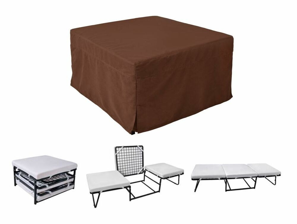 folding convertible sofa bed ottoman couch mattress lounge bed sleeper ebay. Black Bedroom Furniture Sets. Home Design Ideas