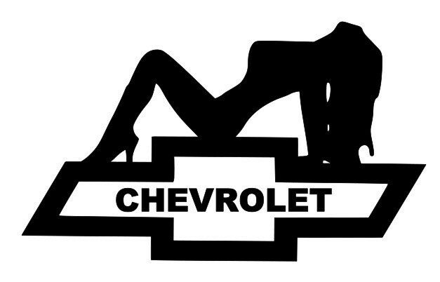 Chevy Bowtie With Girl Vinyl Decal Ebay
