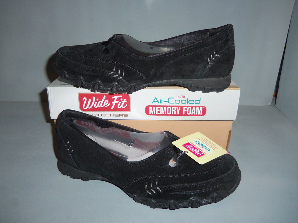 Black Wide Fit Shoes Womens