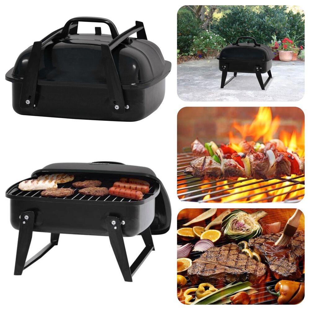 portable small charcoal grill 12 barbecue camping patio backyard grill bbq ebay. Black Bedroom Furniture Sets. Home Design Ideas