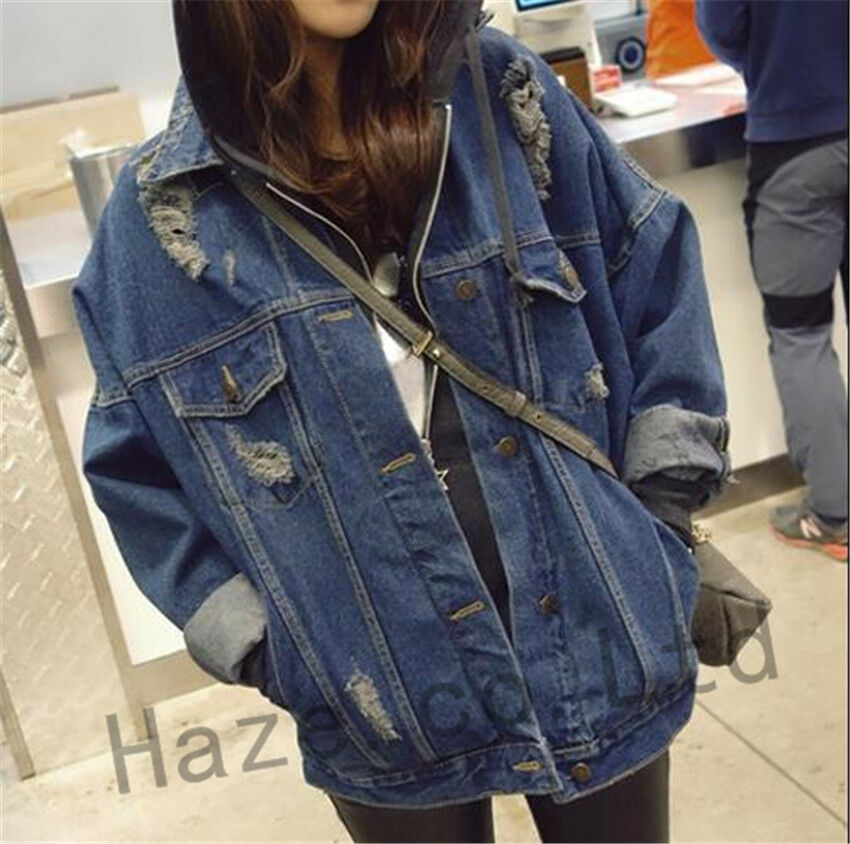 Plus size womens denim jacket