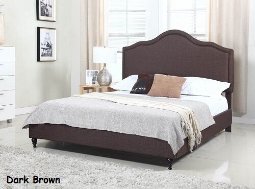 twin full queen king size brown platform bed upholstered headboard frame new ebay. Black Bedroom Furniture Sets. Home Design Ideas