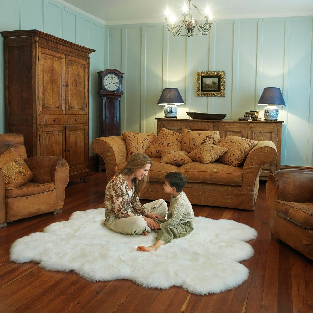 100 Natural Sheepskin Rug Collection 4ft X 6ft Natural
