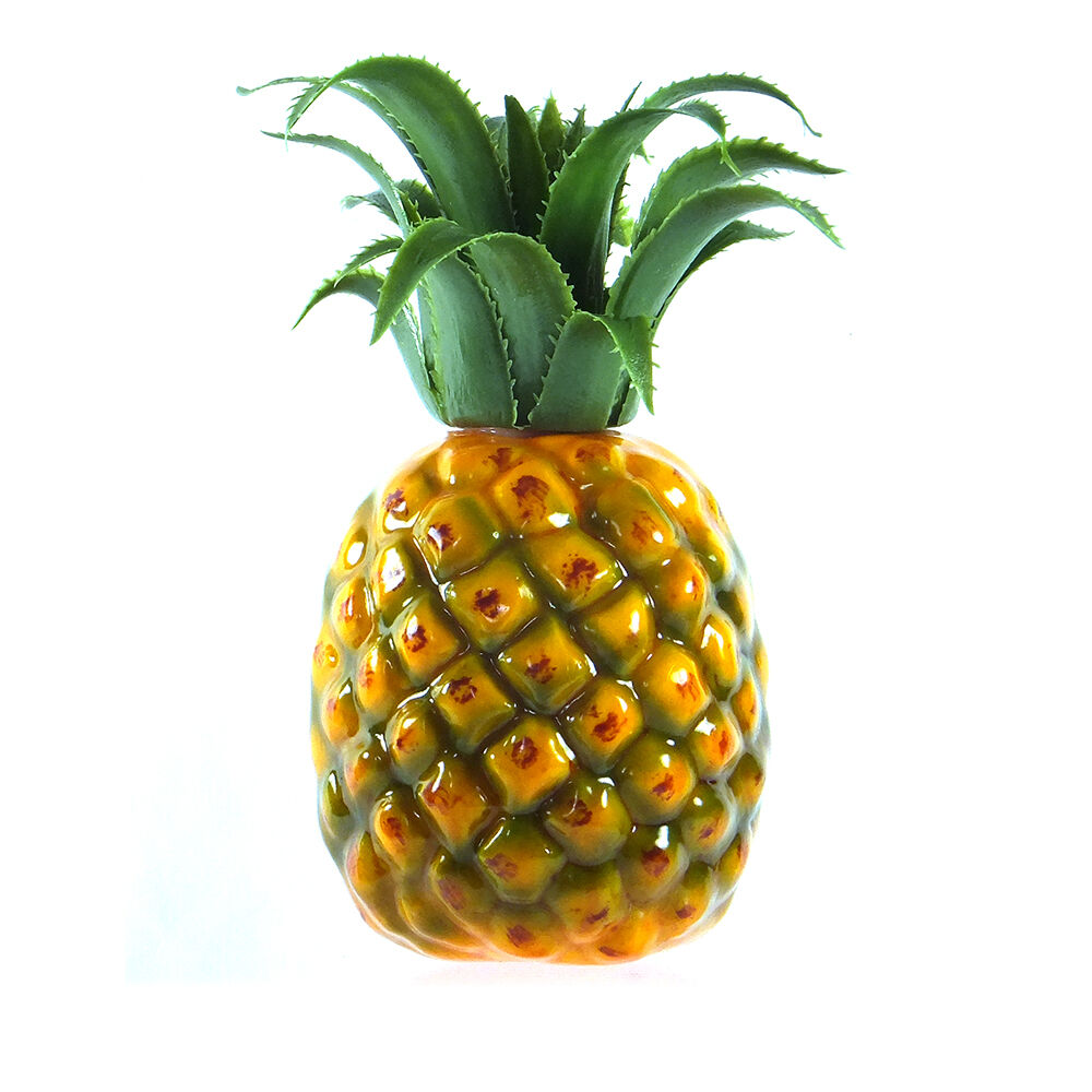 Artificial medium pineapple 7 plastic decorative fruit Ananas dekoration