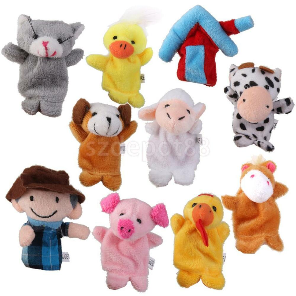 Toys For Animals : Old macdonald farm animal finger puppets plush toys
