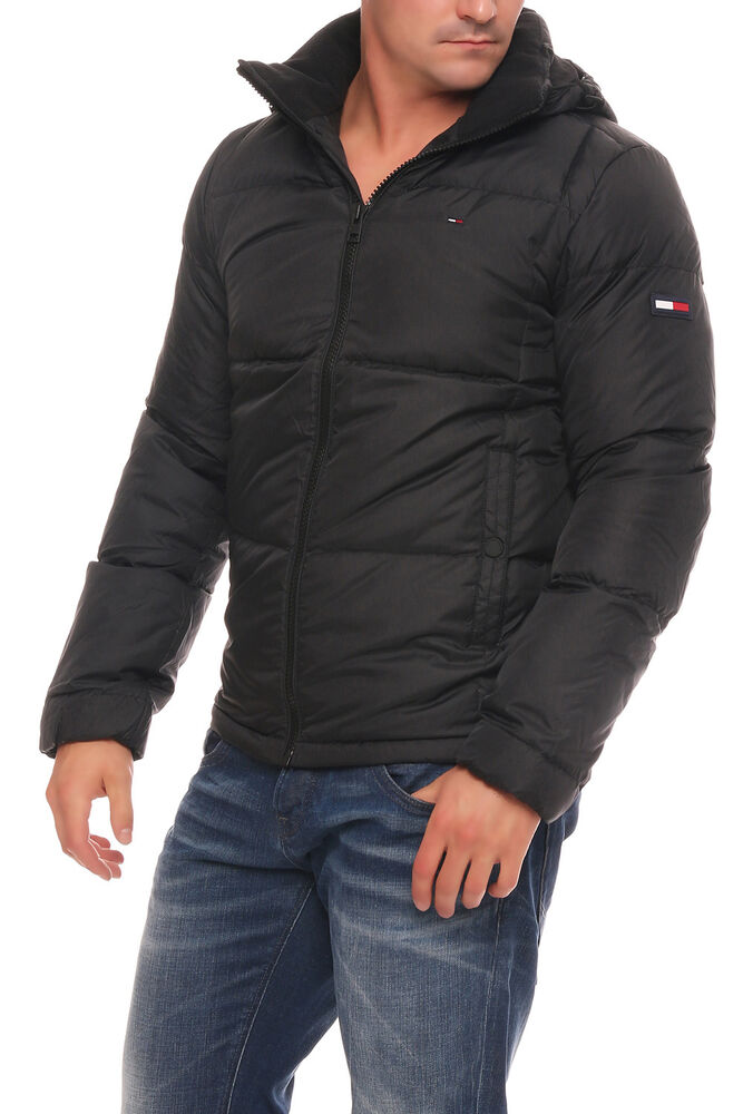 tommy hilfiger herren winter jacke basic down daunenjacke schwarz ebay. Black Bedroom Furniture Sets. Home Design Ideas